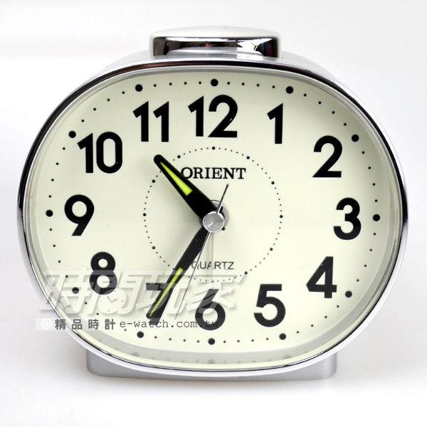 ORIENT 東方錶 簡約音數字時刻 鬧鈴 鬧鐘 AQ237銀