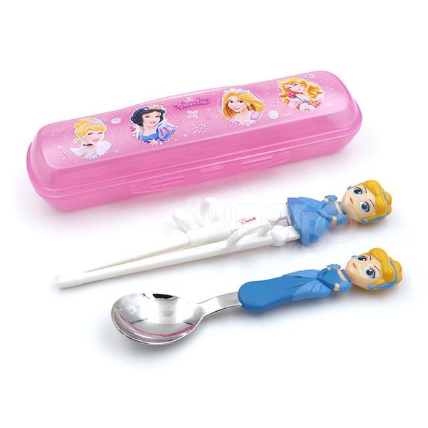 迪士尼 Disney 3D學習筷湯匙組 灰姑娘(附收納盒)