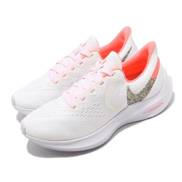 Nike 慢跑鞋 Wmns Zoom Winflo 6 白 粉紅 女鞋 運動鞋 【ACS】 AQ8228-102