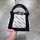 ■專櫃81折■Balenciaga 390346 XS LOGO 徽標帆布2用托特包