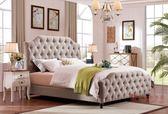 [紅蘋果傢俱] SA106 新美式鄉村風 歐式床 沙發床 床組 六尺床 床架 床台 雙人床 休閒椅 床頭櫃