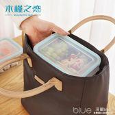 裝飯盒的手提包便當包帆布加厚保溫飯盒袋子大號防水午餐包保冷袋 深藏blue