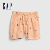 Gap嬰兒 布萊納系列 童趣抽繩裝飾休閒短褲 820153-杏粉色