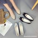 護士鞋 上班工作單鞋女一腳蹬夏季季新款珍珠護士瓢鞋休閒懶人鞋 星河光年
