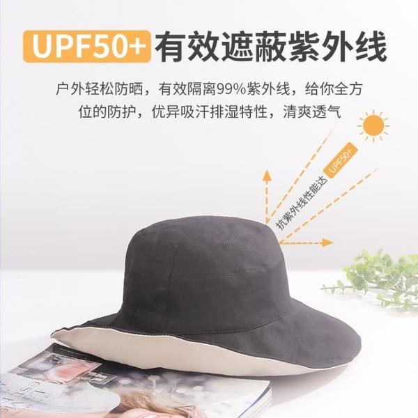 漁夫帽女士遮臉夏季薄款雙面防曬紫外線遮陽帽太陽帽子韓版潮百搭 西城故事