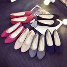 平底鞋圓頭豆豆單鞋淺口絨面大碼工作鞋女學生鞋瓢鞋女 愛麗絲精品