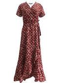 沙灘裙 沙灘裙女海邊度假長裙仙法式優雅復古繫帶裹裙雪紡一片式洋裝夏