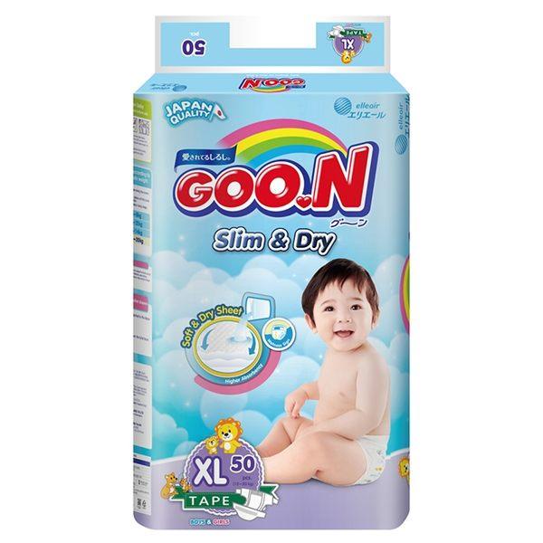 【GOO.N 日本大王】國際版黏貼型XL50片*4串-箱購