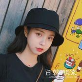 漁夫帽  同款漁夫帽純色光板原宿男女情侶日系文藝百搭遮陽帽盆帽子