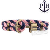 PH PAUL HEWITT / PH-PH-N-NLP / PHREP 北方德國航海風格船錨設計尼龍手環 粉藍x銅