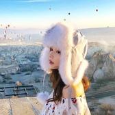 2019新款男女雷鋒帽秋冬兒童皮草帽子狐貍毛韓版可愛護耳帽百搭潮