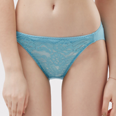 思薇爾-紫戀心系列M-XL蕾絲低腰三角內褲(藍霧色)