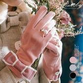 手套 蝴蝶結戒指造型觸控手套-Ruby s露比午茶