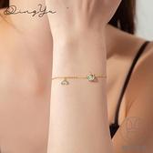 獨角獸手鏈女925純銀設計韓版簡約閨蜜手飾冷淡風【貼身日記】