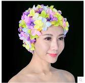 立體花瓣手工歐美時尚泳帽36朵花泳帽PLL3014【男人與流行】