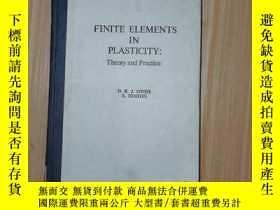二手書博民逛書店Finite罕見Elements in Plasticity: Theory and Practice(塑性力學用