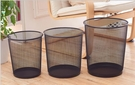 創意家用辦公室垃圾桶廚房客廳衛生間垃圾筒小大號鐵絲網無蓋紙簍