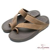 CUMAR 陽光型男 樂活時尚夾腳鞋-棕色
