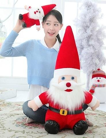 【40公分】鬍子聖誕老人玩偶 聖誕老公公 絨毛娃娃 創意雜貨 過節布置擺設 耶誕節交換禮物