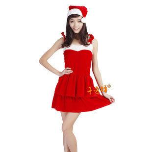 服裝聖誕節女裝---高檔吊帶三件套300g