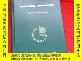 二手書博民逛書店AGRICULTURAL罕見BIOTECHNOLOGY農業生物技