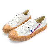 PLAYBOY夏潮彩色條紋餅乾鞋-白-Y620311