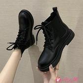 馬丁靴 網紅英倫風馬丁靴女2021秋季新款潮保暖百搭瘦瘦靴短靴 小天使