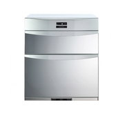 (含標準安裝)櫻花落地式熱風循環臭氧殺菌高70cm(與Q7592BL同款)烘碗機銀色Q-7592BL