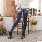 羊駝絨純色保暖褲襪絲襪(藏青色)