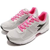 DIADORA 慢跑鞋 Shape 8 銀 黑 高透氣網布 吸震 EVA中底 基本款 運動鞋 女鞋【PUMP306】 DA172074C0793
