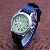 小男孩防水帆布手錶韓國版石英中兒童錶小學生數字腕錶男童潮腕錶    電購3C