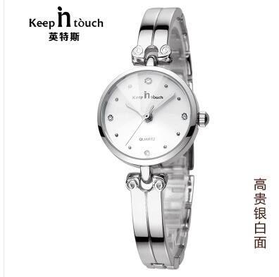 手錶水鑽陶瓷正韓潮流時尚學生防水機械石英錶鋼帶時裝手?錶女錶 【開學季巨惠】