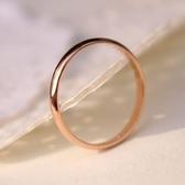 玫瑰金純銀戒指-時尚簡約熱銷生日情人節禮物女飾品71am53【巴黎精品】