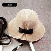 遮陽帽 帽子女夏天正韓百搭防曬遮陽帽出游可折疊太陽帽漁夫帽女韓國