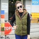 【V2645】shiny藍格子-溫暖時尚.秋冬裝珊瑚絨馬甲背心外套