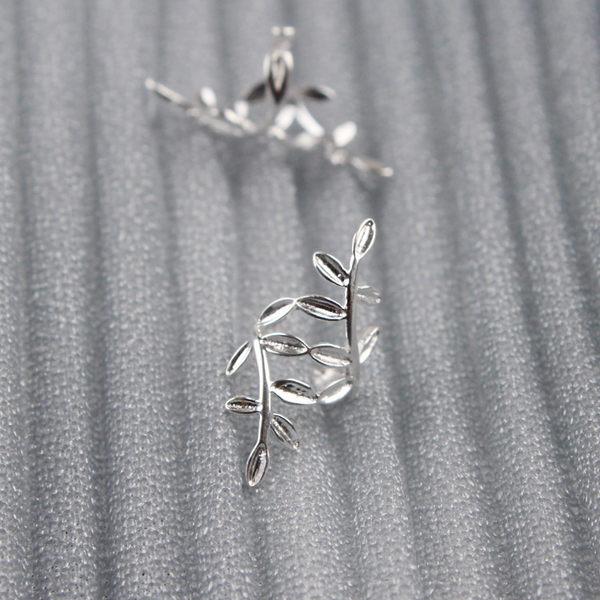 純銀精靈耳夾森系無耳洞女耳環耳骨夾式