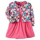 Carter's平行輸入童裝 女寶寶 短袖連衣裙洋裝&薄外套 紅花朵【CA121I187】