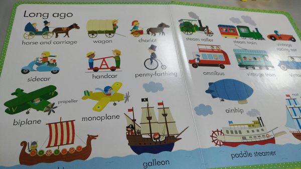 【小寶寶的認知書】MY FIRST WORD BOOK ABOUT THINGS THAT GO /精裝硬頁 《主題:交通工具》