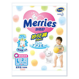 妙而舒 妙兒褲嬰兒紙尿褲L尺寸2片