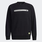 【12周年慶跨店折後$2180】Adidas TH SWT DK REF 男裝 長袖 大學T 棉質 反光標誌 LOGO小標 黑 GP0995