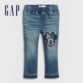 Gap女幼童 Gap x Disney 迪士尼系列時尚水洗修身款鬆緊牛仔褲 600385-米妮圖案