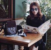 ■專櫃68折 ■Chloe Faye小款 麂皮掀蓋平滑小牛皮後背包 黑色