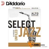 美國 Daddario Select Jazz 中音 薩克斯風竹片 2 Medium Alto Sax (10片/盒) Unfilde Cut 美式切法【RICO】