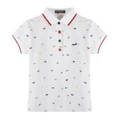 『小鱷魚童裝』高爾夫印花POLO衫(08號~20號)533150