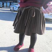 絨加厚百褶半身短裙