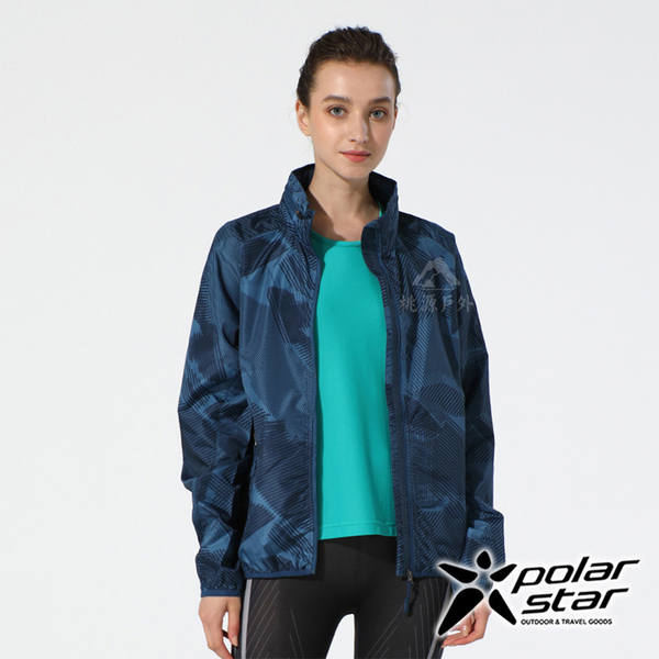 PolarStar 中性 抗風連帽外套『深藍』P19149 戶外 休閒 登山 露營 防曬 防風