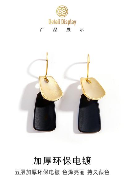 適合圓臉的耳環女歐美顯瘦簡約冷淡風2020網紅耳釘高級感法式耳飾