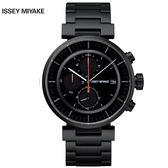 三宅一生ISSEY MIYAKE W系列SILAY002Y 黑鋼儀錶板三眼錶x42mm 公司貨|名人鐘錶高雄門市