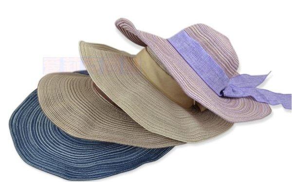 手工編織度假沙灘帽 -34526007