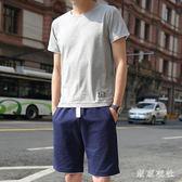 夏季男士短袖T恤韓版時尚休閒套裝修身半袖運動一套衣服 QQ30214『東京衣社』